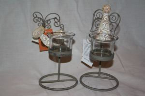Angel and Reindeer Tea light or Votive Candle Holders pair reduced from £9.49 to £6.50